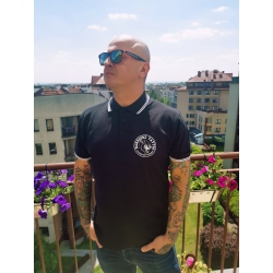 Koszulka polo Hardcore Tattoo - Passion Not Fashion (czarna)