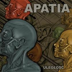 """Apatia - Uległość LP 12"""" (biały/czarny)"""