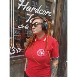 Koszulka polo Hardcore Tattoo - Passion Not Fashion (czerwona)