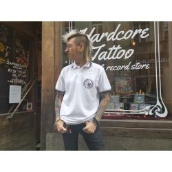 Koszulka polo Hardcore Tattoo - Passion Not Fashion (biała)