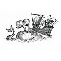Kacper - wzór wieloryb i statek
