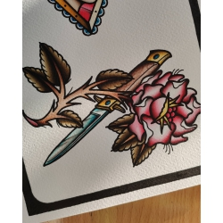 Wojtek - wzór róża z nożem