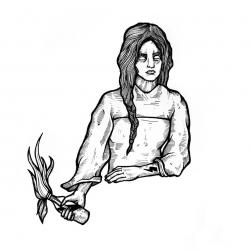 Dominik - wzór kobieta z koktajlem mołotowa