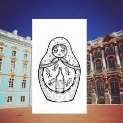 Dominik - wzór Matrioszka