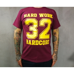 "Hard Work t-shirt ""32 HARDCORE"" - jasno szara"