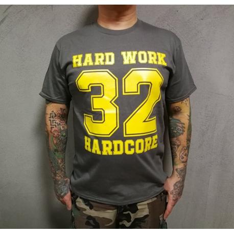 "Hard Work t-shirt ""32 HARDCORE"" - czarna"