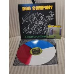 """Dog Company -""""A bullet for every life"""" niebiesko/czerwono/biały LP 12`"""